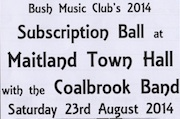 34th Subscription Ball at Maitland - Celebrating 60 years of the Bush Music CLub
