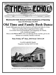 Old Time & Bush Dance Friday 26 June 2015, Wentworth Falls