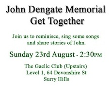 2nd John Dengate Memorial Get Together, Sunday 23rd August 2015
