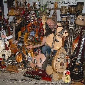 Marcus on his mountain of strings