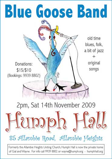Blue Goose Band at Humph Hall poster