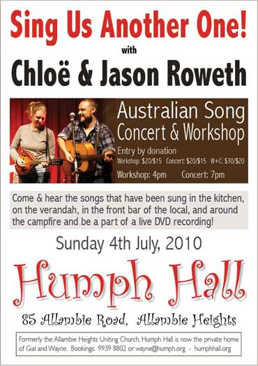 Chloe & Jason Roweth at Humph Hall poster