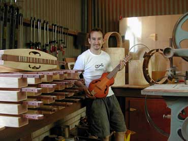 Nick Carpenter in his workshop.