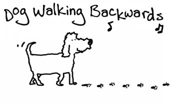 Dog Walking Backwards