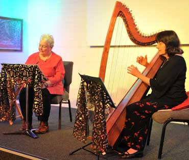 Alma Denton & Noni Dickson performing in Humph Hall