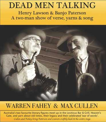 Warren Fahey and Max Cullen as Banjo Paterson & Henry Lawson