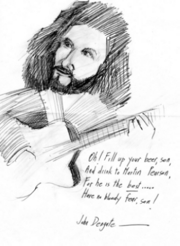 Martin Pearson as sketched by John Dengate