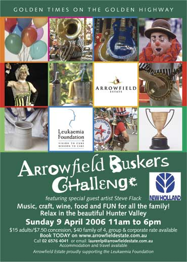 Arrowfield Buskers Challenge Poster