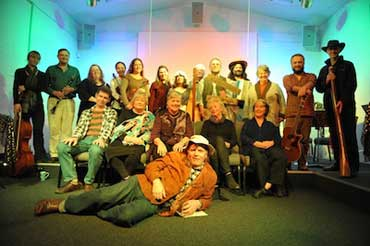 Performers in Louisa's Walk, a previous Humph Hall storytelling event